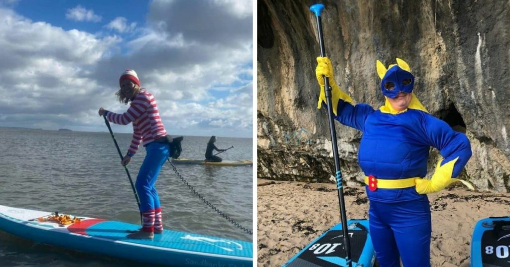 Kezzy (L) and Banana Girl (R) from Island SUP, Wales
