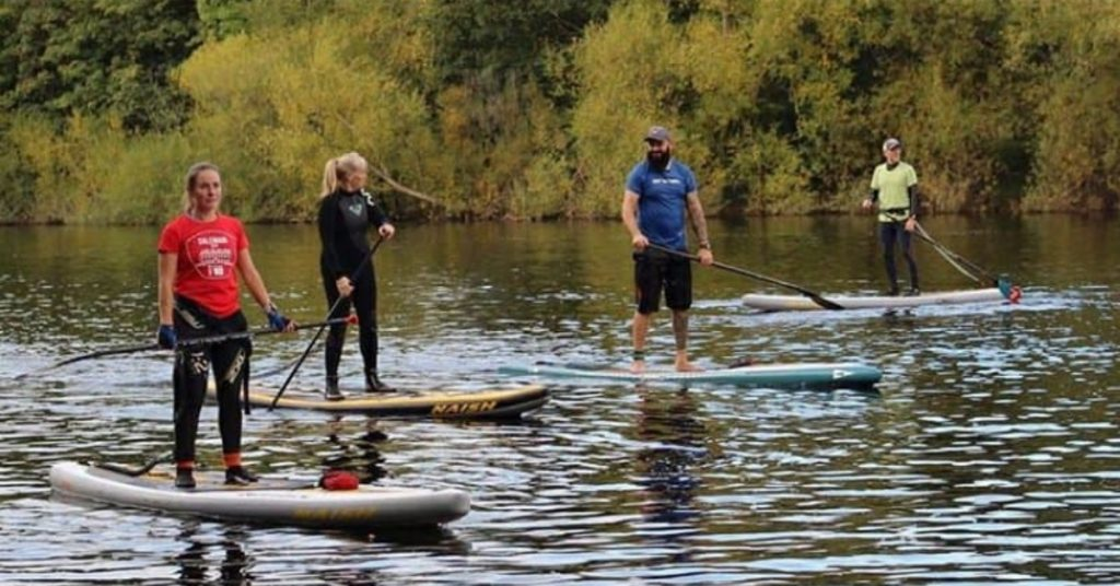 Northern SUP race team on the water