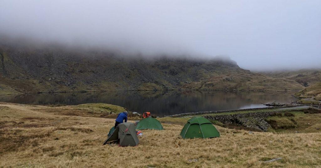 Thursday night's wild camp, lakeside